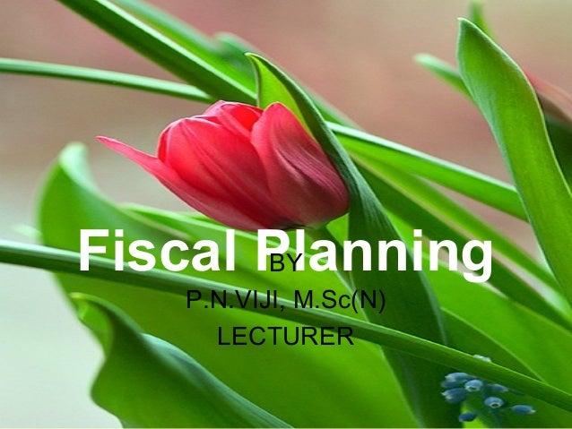 Fiscal PlanningBY P.N.VIJI, M.Sc(N) LECTURER