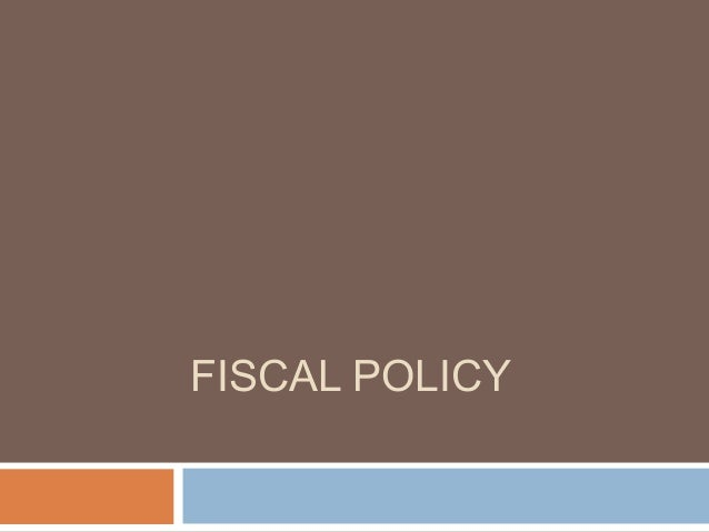 Fiscal+policy
