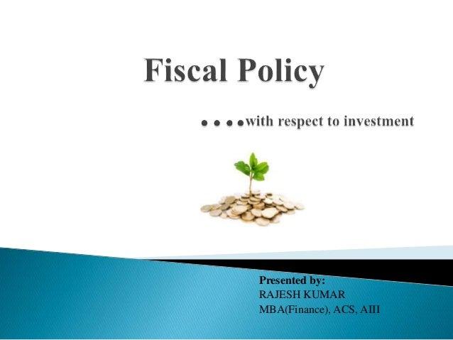 Presented by: RAJESH KUMAR MBA(Finance), ACS, AIII