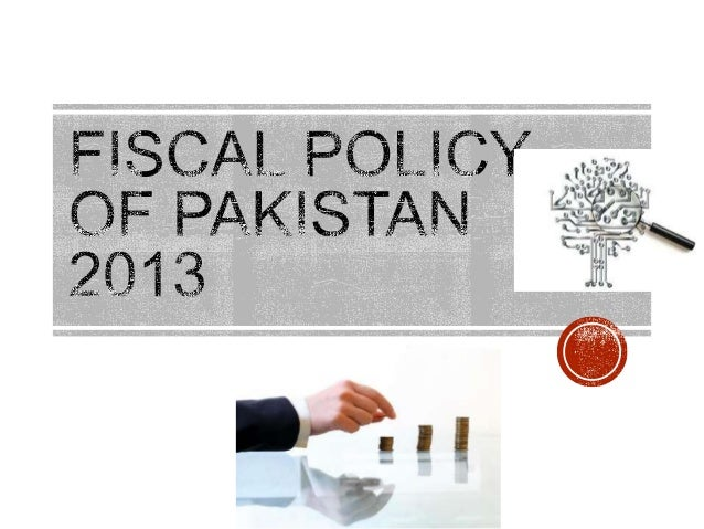  Fiscal policy is an important part of overall economic Framework  of country.  The Fiscal policy is formed by Central G...