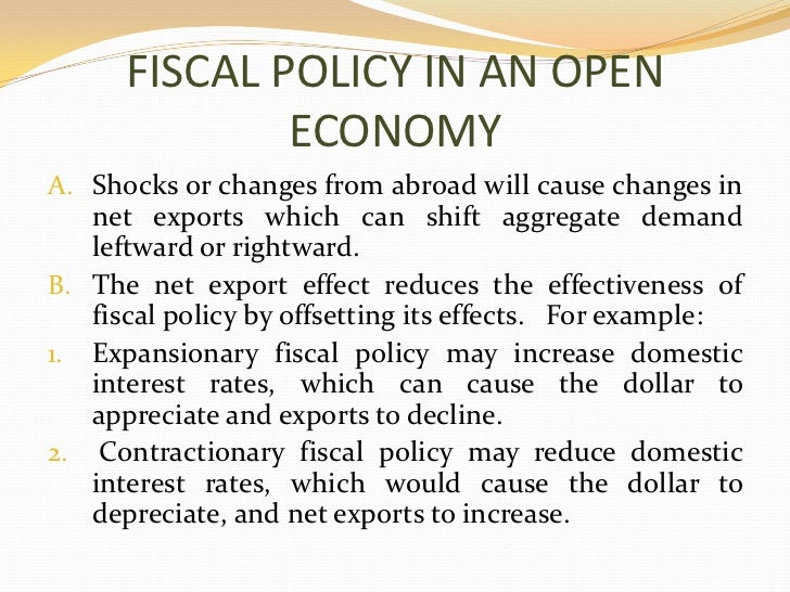 The effectiveness of fiscal policy between the Neo