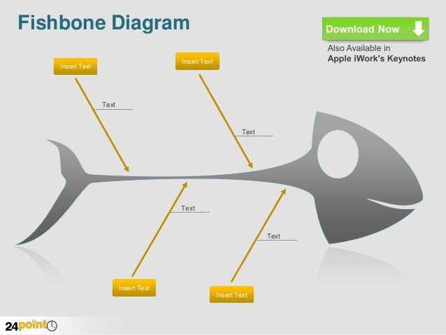 fishbone diagram   editable ppt graphicfishbone diagram insert text insert text text text text text insert text insert text