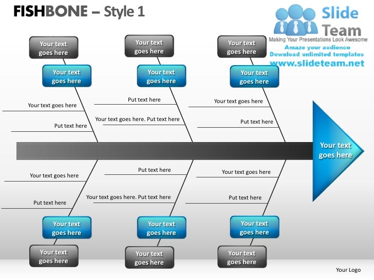 Fishbone Style 1 Powerpoint Presentation Slides Ppt Templates