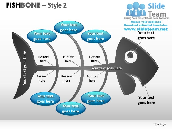 Fishbone style 2 powerpoint presentation slides ppt templates
