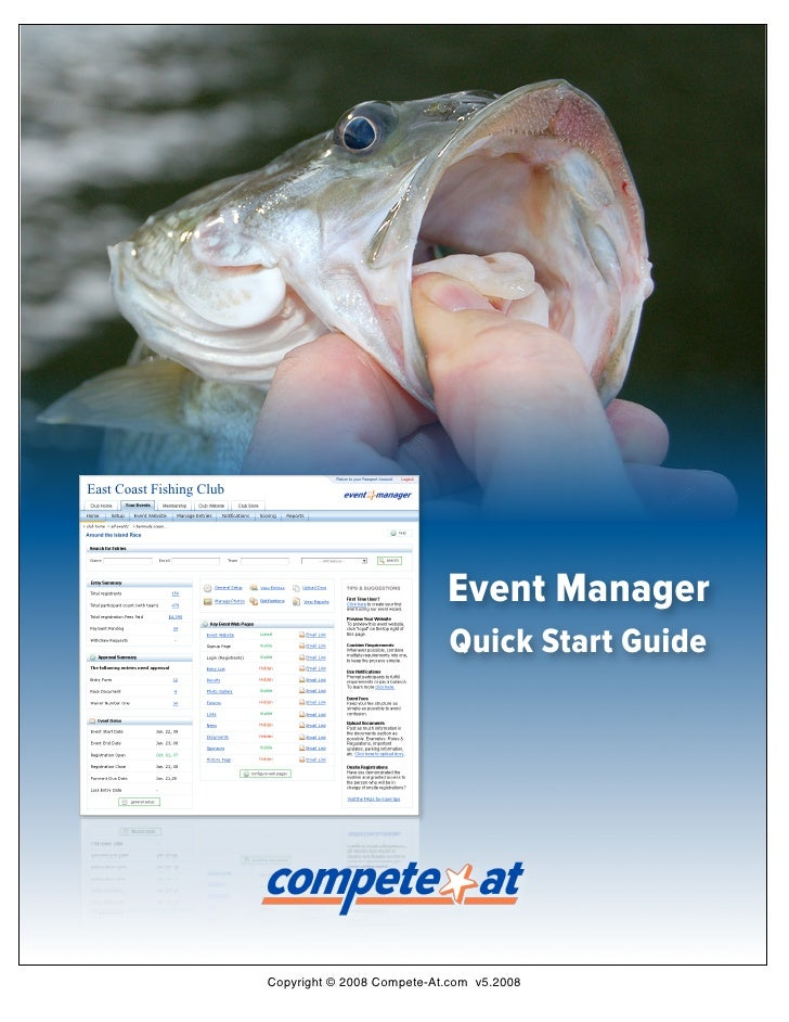 East Coast Fishing Club                                                          Event Manager                            ...