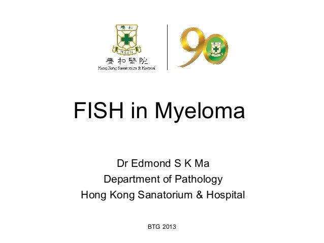 BTG 2013 FISH in Myeloma Dr Edmond S K Ma Department of Pathology Hong Kong Sanatorium & Hospital