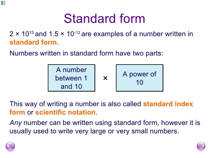 Free Standard Form Scientific Notation To Standard Form Calculator