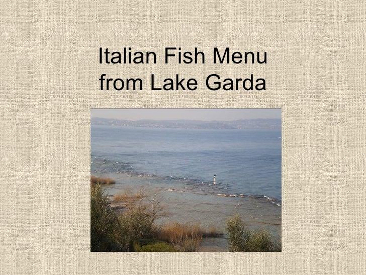 Italian Fish Menufrom Lake Garda