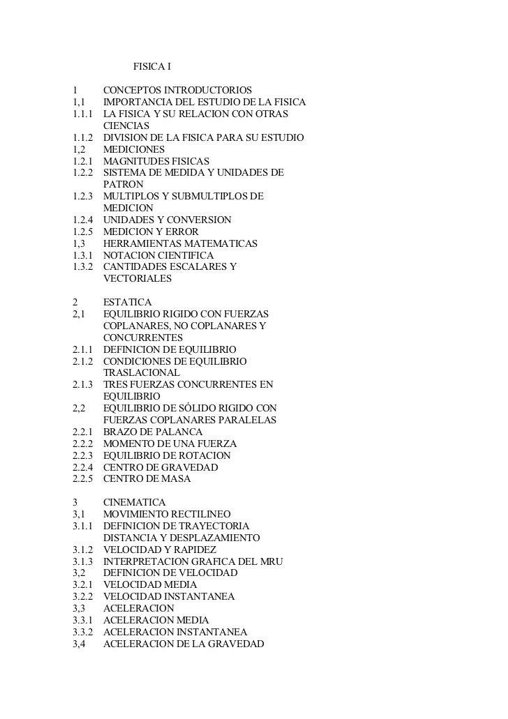 FISICA I  1     CONCEPTOS INTRODUCTORIOS 1,1   IMPORTANCIA DEL ESTUDIO DE LA FISICA 1.1.1 LA FISICA Y SU RELACION CON OTRA...