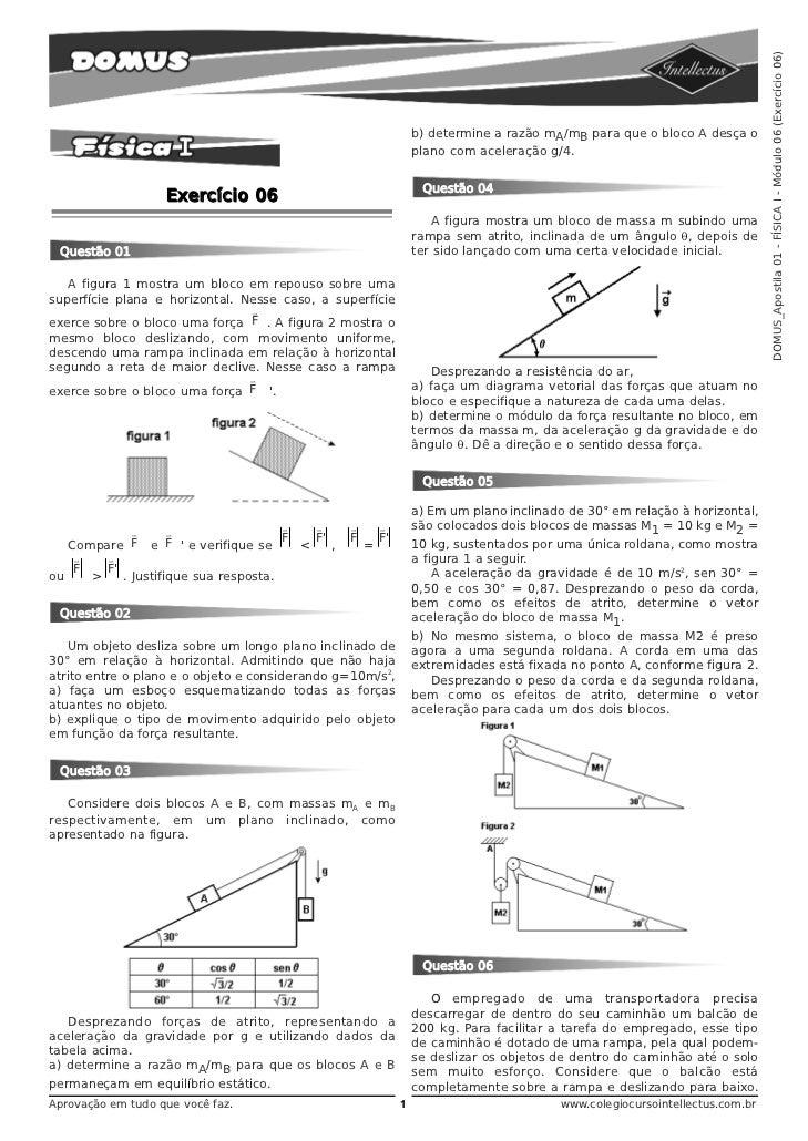 DOMUS_Apostila 01 - FÍSICA I - Módulo 06 (Exercício 06)                                                                 b)...