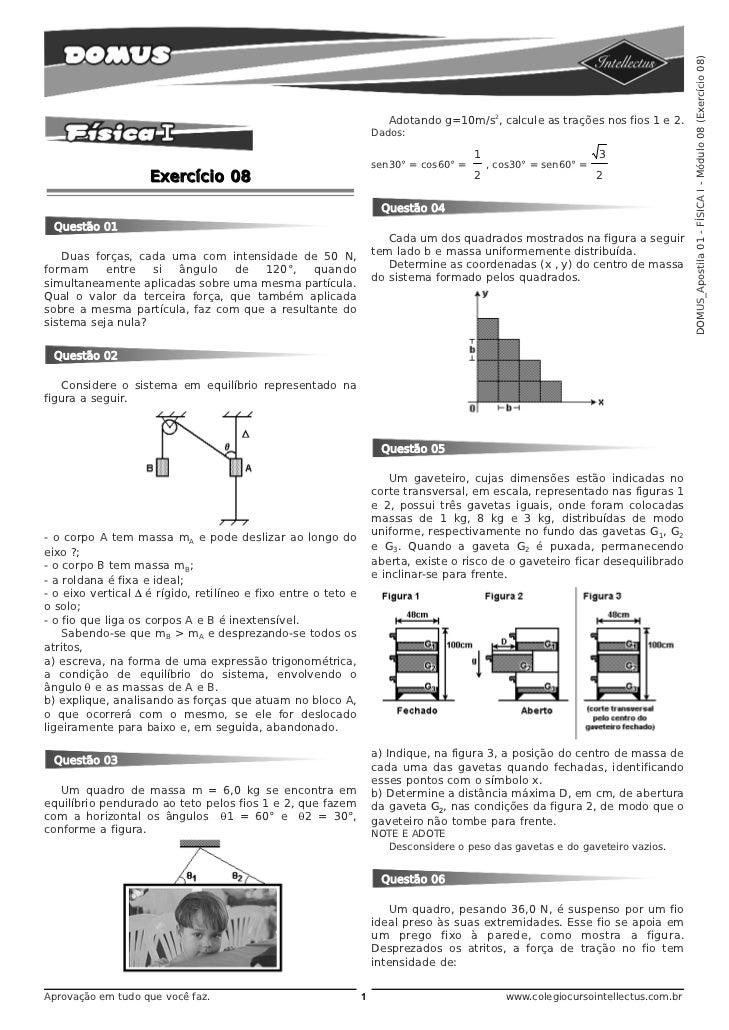 DOMUS_Apostila 01 - FÍSICA I - Módulo 08 (Exercício 08)                                                                   ...