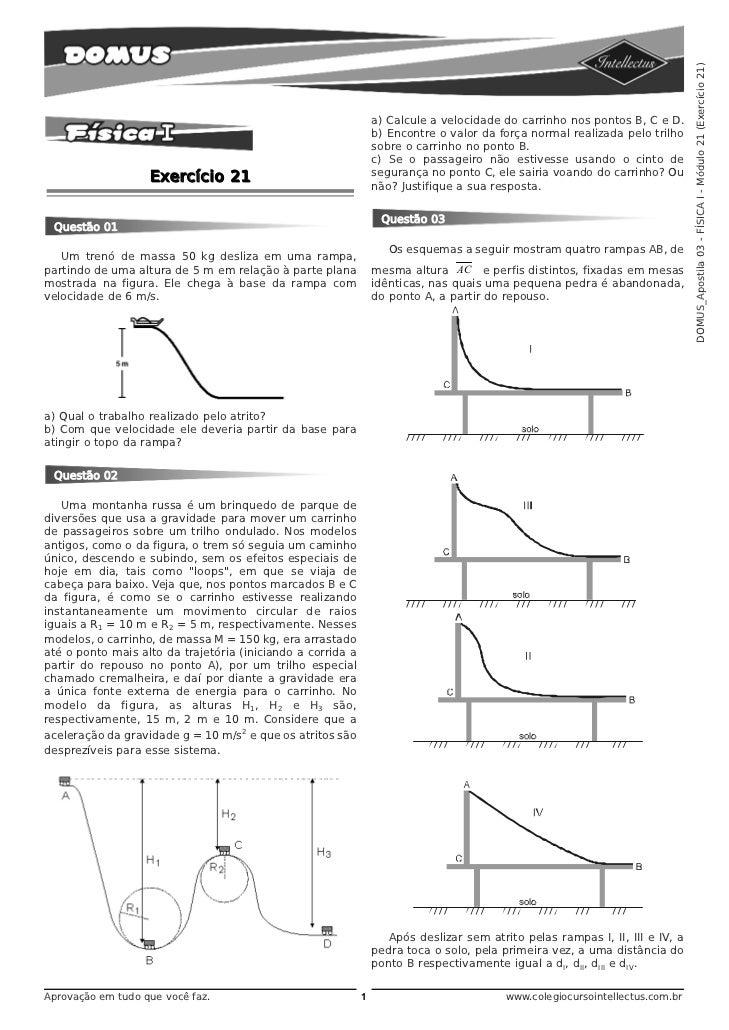 DOMUS_Apostila 03 - FÍSICA I - Módulo 21 (Exercício 21)                                                                 a)...