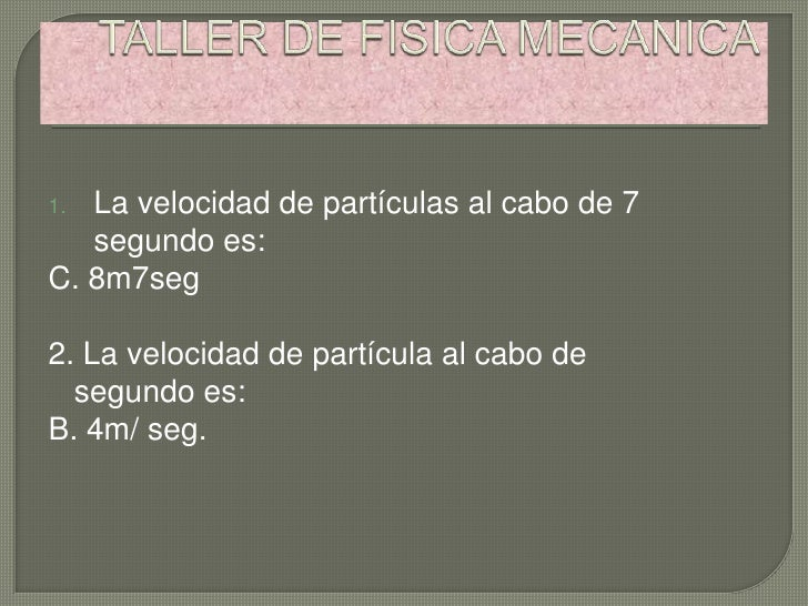 Fisica mecanica 2