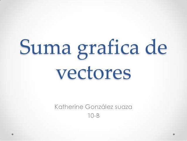 Suma grafica de   vectores   Katherine González suaza             10-B
