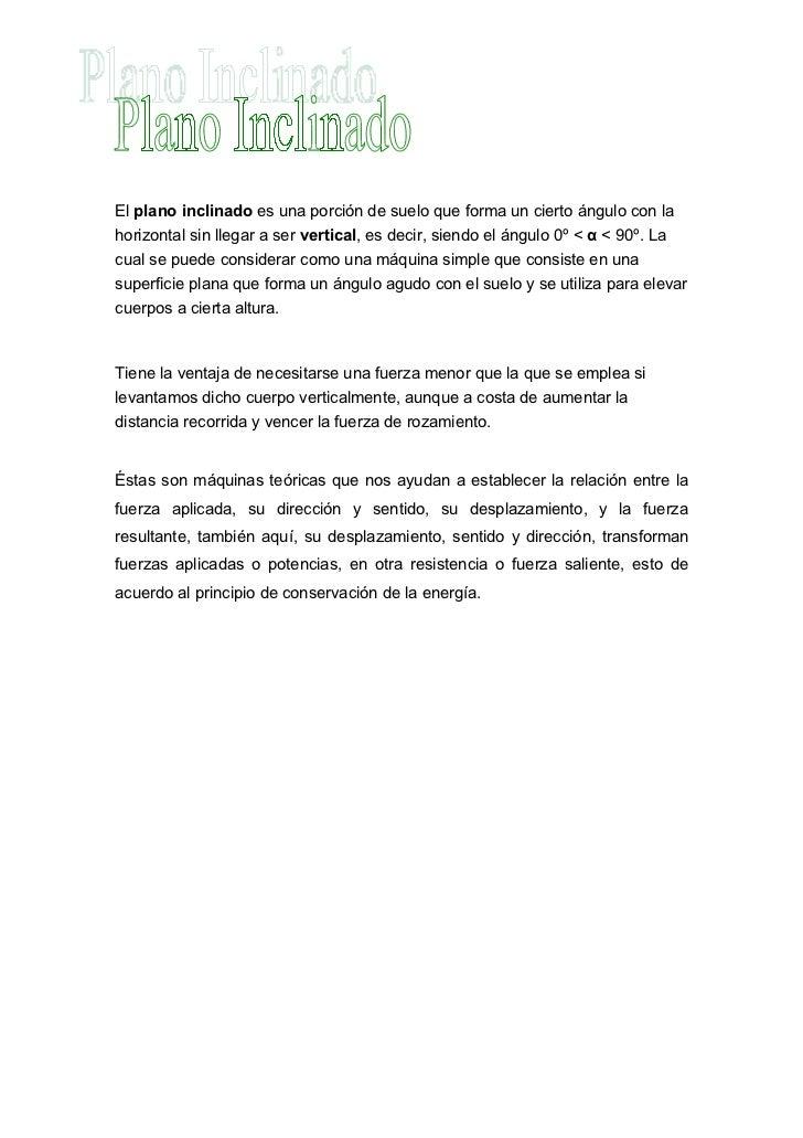 PLANO INCLINADO, ROTACION Y ENERGIA CINETICA