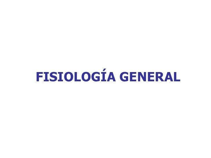 FisiologíA General
