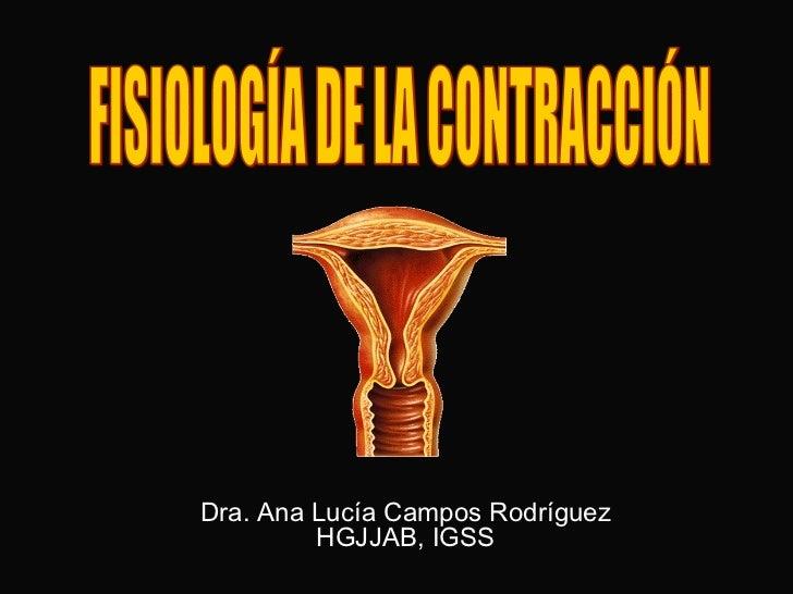 Fisiologia de la contracción