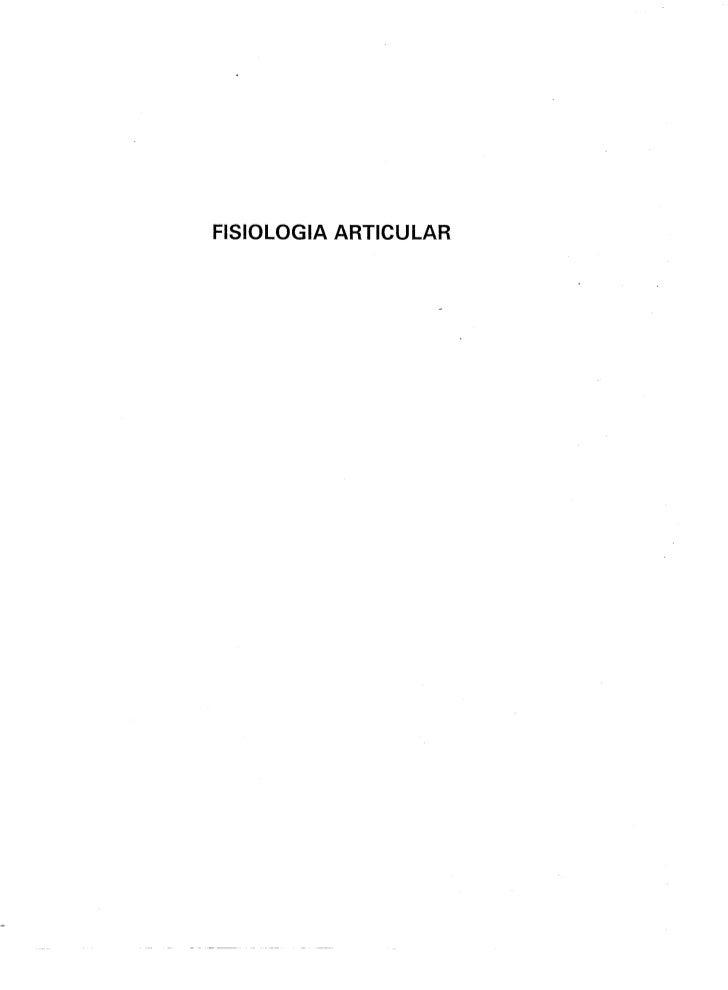 Fisiologia Articular  Volume 3