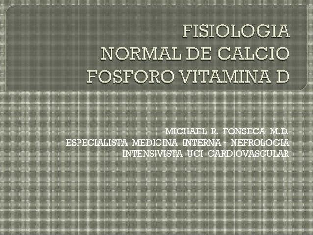 Fisiologia calcio fosforo vitamina d calcitriol