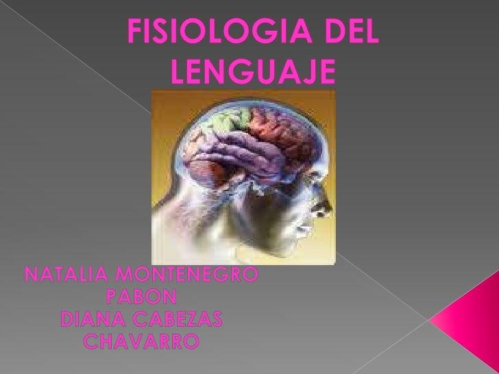 FISIOLOGIA DEL LENGUAJE<br />NATALIA MONTENEGRO PABON <br />DIANA CABEZAS CHAVARRO<br />