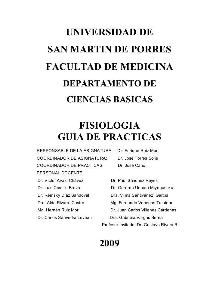 Fisiologia Guia Practica 2009