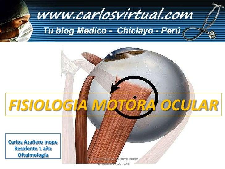 FISIOLOGIA MOTORA OCULAR<br />Carlos Azañero Inope<br />Residente 1 año<br />Oftalmología<br />Dr. Carlos Augusto Azañero ...