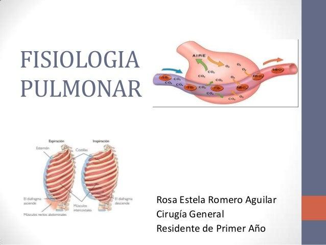 FISIOLOGIAPULMONAR             Rosa Estela Romero Aguilar             Cirugía General             Residente de Primer Año