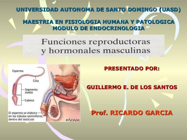 UNIVERSIDAD AUTONOMA DE SANTO DOMINGO (UASD) MAESTRIA EN FISIOLOGIA HUMANA Y PATOLOGICA MODULO DE ENDOCRINOLOGIA PRESENTAD...