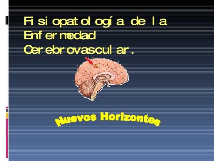 Fisiopatología de la Enfermedad Cerebrovascular. Nuevos Horizontes