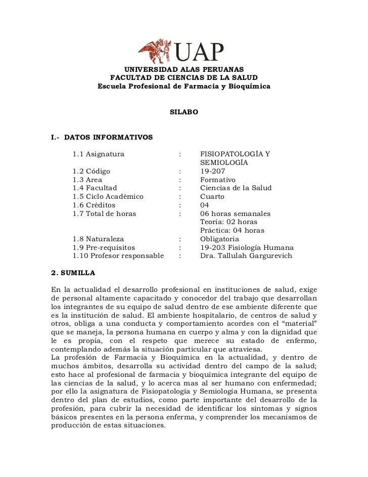 UNIVERSIDAD ALAS PERUANAS                 FACULTAD DE CIENCIAS DE LA SALUD              Escuela Profesional de Farmacia y ...