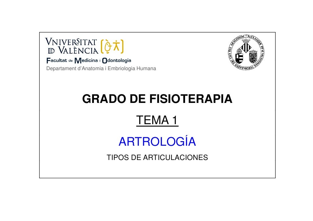 Departament d'Anatomia i Embriologia Humana              GRADO DE FISIOTERAPIA                                   TEMA 1   ...