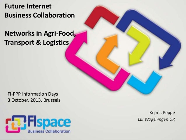 Future Internet Business Collaboration Networks in Agri-Food, Transport & Logistics  FI-PPP Information Days 3 October. 20...