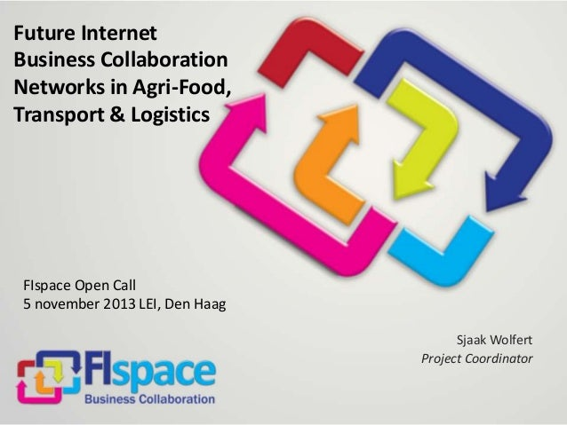 Future Internet Business Collaboration Networks in Agri-Food, Transport & Logistics  FIspace Open Call 5 november 2013 LEI...