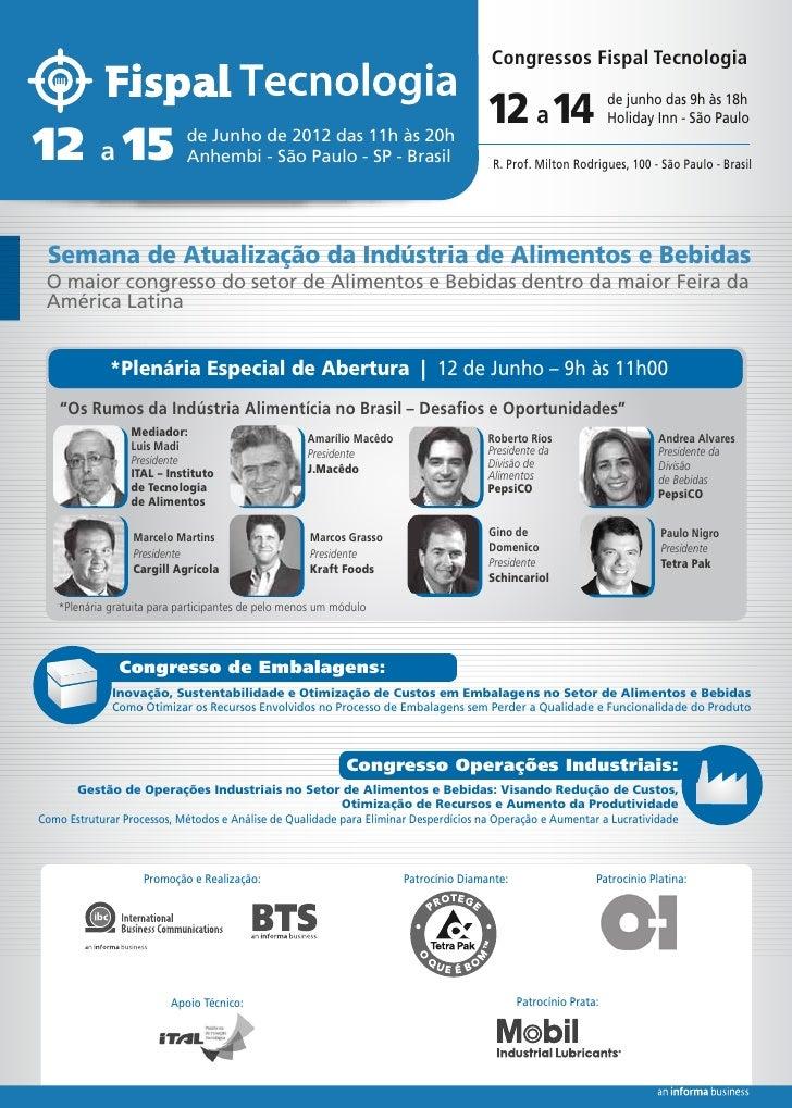 Congressos Fispal Tecnologia                                                                                      12 a 14 ...