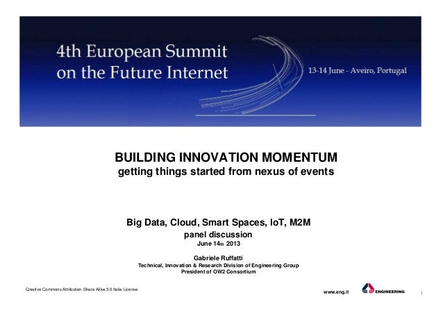 Building innovation momentum, getting things started from nexus of events