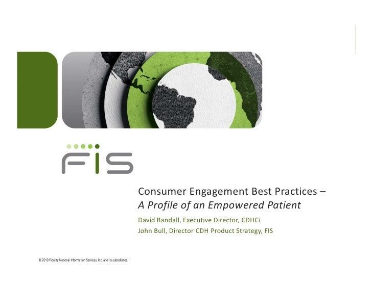 Consumer Engagement Best Practices