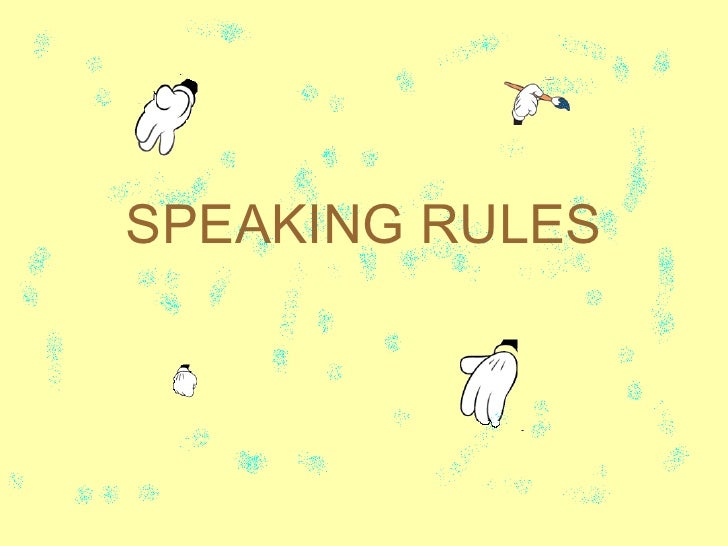 Fit 17   agus - speaking rules