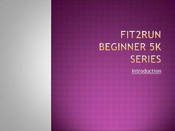 5k Beginner Series