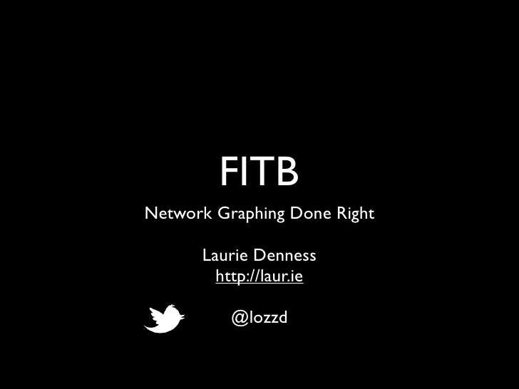 FITBNetwork Graphing Done Right      Laurie Denness        http://laur.ie          @lozzd