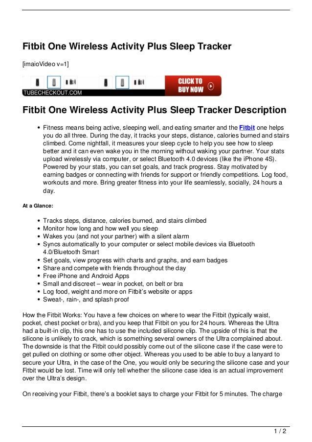 Fitbit One Wireless Activity Plus Sleep Tracker[imaioVideo v=1]Fitbit One Wireless Activity Plus Sleep Tracker Description...