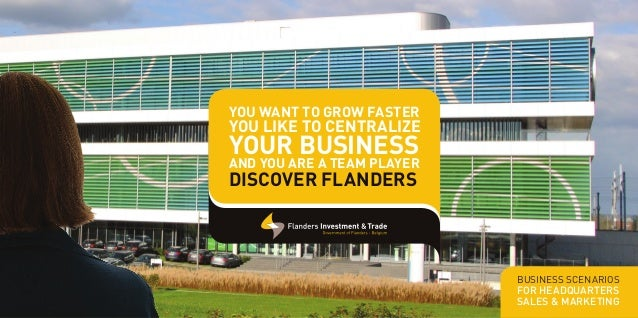 Activity Guide Sales & Marketing and Headquarters in Flanders