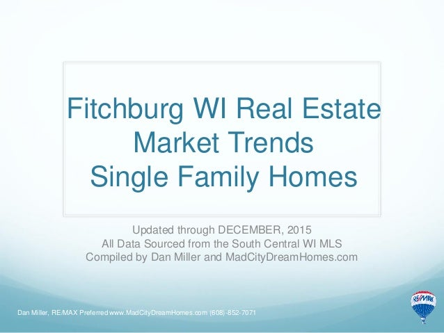 Fitchburg wi real estate market trends december 2015 for Real estate market trends