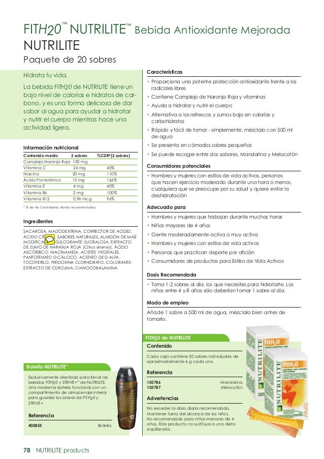 Fith20™ nutrilite Amway transgénicos