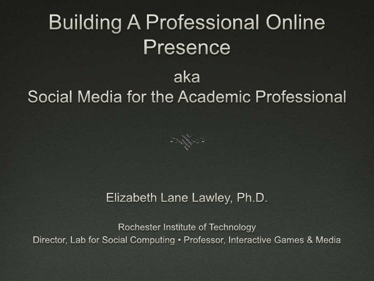 Building a Professional Online Presence
