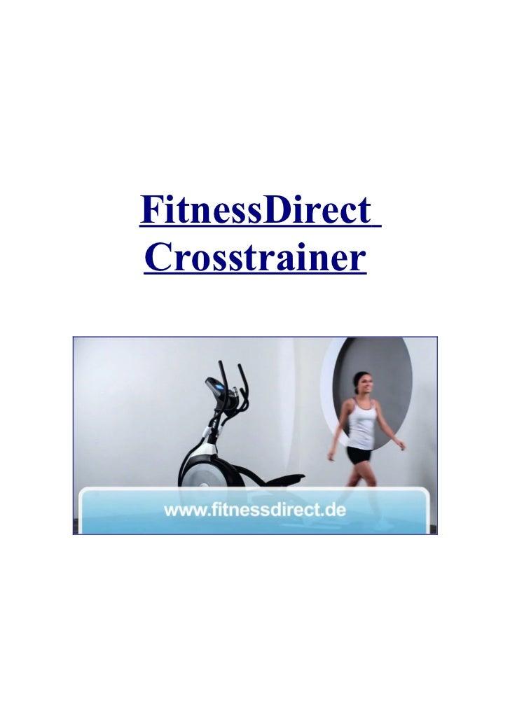 FitnessDirectCrosstrainer