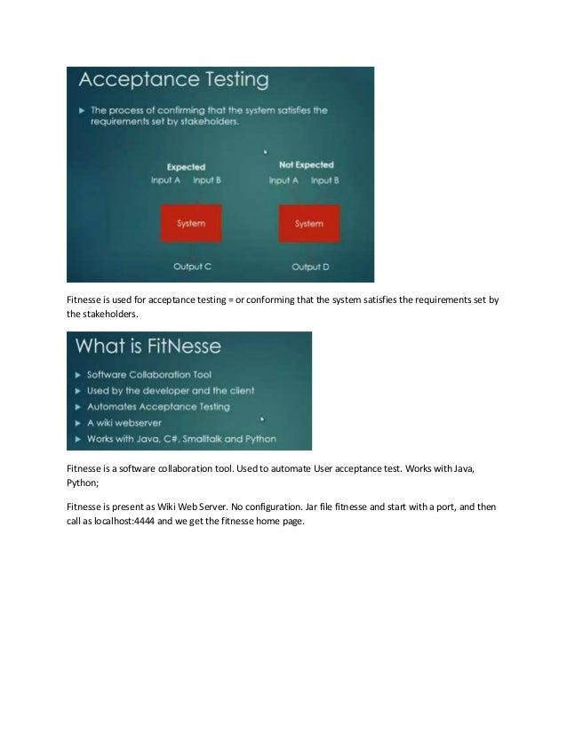 Fitnesse   user acceptance test - Presentation