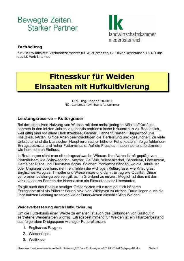 """Fachbeitrag für """"Der Wildhalter"""" Verbandszeitschrift für Wildtierhalter, GF Oliver Bernhauser, LK NÖ und das LK Web Intern..."""
