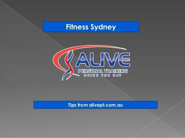 Fitness SydneyTips from alivept.com.au