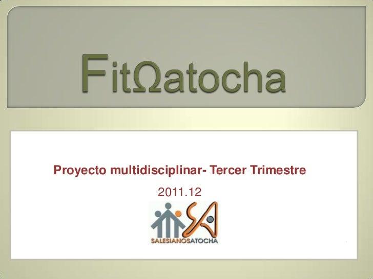 Proyecto multidisciplinar- Tercer Trimestre                 2011.12                                              .