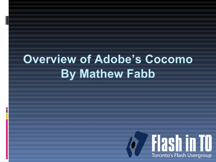 Overview of Adobe's Cocomo By Mathew Fabb